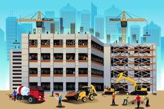 Escena de la construcción de edificios