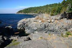 Escena de la costa Fotografía de archivo libre de regalías