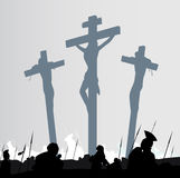 Escena de la crucifixión Fotografía de archivo