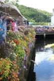 Escena de la flor de la orilla Imagenes de archivo