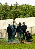 Escena de la guerra civil Foto de archivo