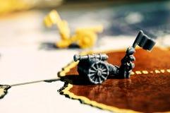 Escena de la guerra con un juego de mesa Foto de archivo libre de regalías