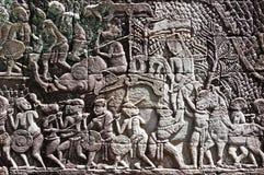 Escena de la guerra del elefante Foto de archivo libre de regalías