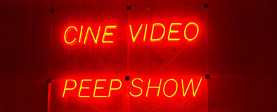 Escena de la luz roja Fotografía de archivo libre de regalías