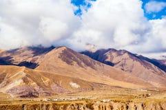 Escena de la meseta tibetana fotografía de archivo libre de regalías