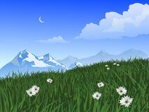 Escena de la montaña Imagenes de archivo