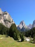 Escena de la montaña Fotografía de archivo