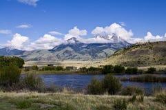 Escena de la montaña de Montana Foto de archivo