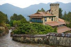 Escena de la montaña en Monserrate, Colombia fotografía de archivo libre de regalías