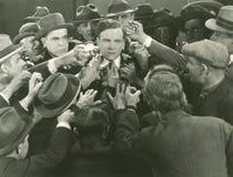 Escena de la multitud imagen de archivo