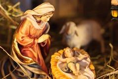 Escena de la natividad Imagen de archivo