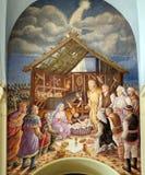 Escena de la natividad Fotografía de archivo