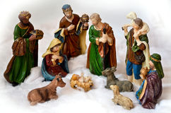 Escena de la natividad imágenes de archivo libres de regalías