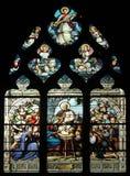 Escena de la natividad, adoración de los pastores Imagen de archivo libre de regalías