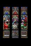 Escena de la natividad, adoración de los pastores Imagen de archivo
