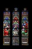 Escena de la natividad, adoración de los pastores Fotografía de archivo