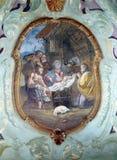 Escena de la natividad, adoración de los pastores Imagenes de archivo