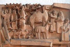 Escena de la natividad, adoración de pastores Imagenes de archivo