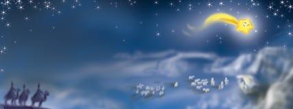Escena de la natividad de arriba Imagen de archivo libre de regalías