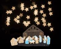 Escena de la natividad de la galleta Imagen de archivo libre de regalías