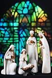 Escena de la natividad de la iglesia Fotos de archivo