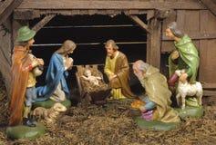 Escena de la natividad de la Navidad Imagenes de archivo