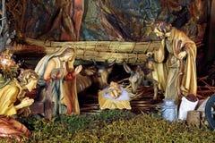 Escena de la natividad de la Navidad Imágenes de archivo libres de regalías