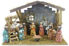 Escena de la natividad de la Navidad Fotos de archivo libres de regalías