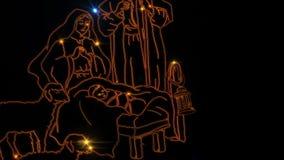 Escena de la natividad de la Navidad stock de ilustración