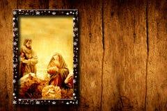 Escena de la natividad de las plantillas de Chrristmas Imagen de archivo libre de regalías