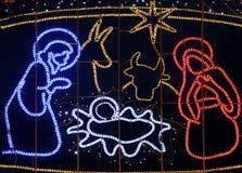 Escena de la natividad, decoración de la Navidad en Zagreb Fotos de archivo
