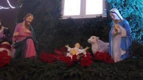 Escena de la natividad - el nacimiento de Jesus Christ metrajes