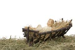 Escena de la natividad en el fondo blanco Fotografía de archivo