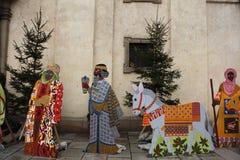 Escena de la natividad en Praga, República Checa Fotos de archivo