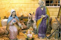 Escena de la natividad por días de fiesta de la Navidad fotos de archivo libres de regalías