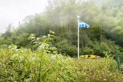 Escena de la naturaleza del kajak Fotos de archivo
