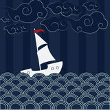 Escena de la nave Libre Illustration