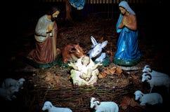 Escena de la Navidad imagenes de archivo
