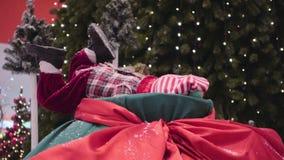 Escena de la Navidad, animales animados de la marioneta almacen de video