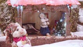 Escena de la Navidad, animales animados de la marioneta metrajes