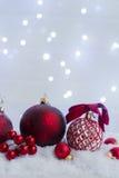 Escena de la Navidad con nieve Fotos de archivo