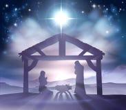 Escena de la Navidad de la natividad ilustración del vector