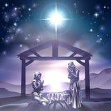 Escena de la Navidad de la natividad Imágenes de archivo libres de regalías