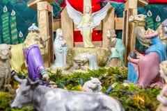 Escena de la Navidad - Nacimiento Foto de archivo