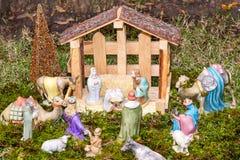 Escena de la Navidad - Nacimiento Fotografía de archivo libre de regalías