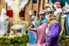 Escena de la Navidad - Nacimiento Fotos de archivo