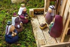 Escena de la Navidad - Nacimiento Imagen de archivo