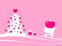 Escena de la Navidad para el comercio electrónico Imagen de archivo