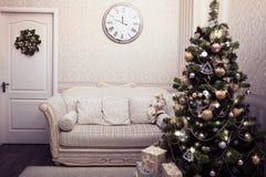 Escena de la Navidad y del Año Nuevo Imagenes de archivo