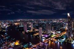 Escena 2 de la noche de Bangkok Fotos de archivo libres de regalías
